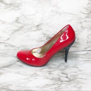 Kenneth Cole Reaction Joni Lee Red Leather Heels